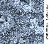 tracery seamless calming... | Shutterstock . vector #520584160
