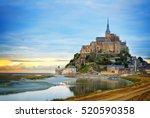 Mont St Michel City At Sunset ...