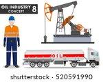 oil industry concept. detailed... | Shutterstock .eps vector #520591990