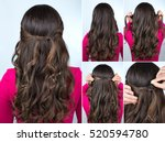 Simple Knotted Hairstyle On...