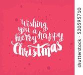 christmas card template. hand... | Shutterstock .eps vector #520595710