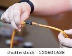 electrician holding portable...   Shutterstock . vector #520601638