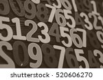 background of numbers. from... | Shutterstock . vector #520606270