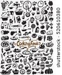 cooking food doodles | Shutterstock .eps vector #520610380