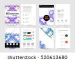 geometric background template... | Shutterstock .eps vector #520613680