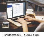 appointment agenda reminder...   Shutterstock . vector #520615108