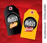 vector black friday sales tag... | Shutterstock .eps vector #520616080