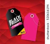 vector black friday sales tag... | Shutterstock .eps vector #520616194