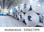 top view of the stock rolls of... | Shutterstock . vector #520617394