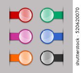 color tabs for webpages. set on ... | Shutterstock .eps vector #520620070