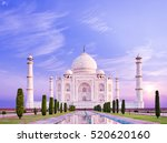 amazing view on the taj mahal... | Shutterstock . vector #520620160