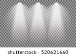 set of stage illuminated... | Shutterstock .eps vector #520621660