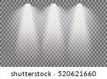 set of stage illuminated... | Shutterstock .eps vector #520621660