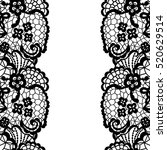 seamless lace border. vector... | Shutterstock .eps vector #520629514