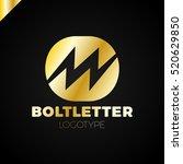 abstract letter m logo. dynamic ... | Shutterstock .eps vector #520629850