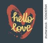 valentine's day hand drawn... | Shutterstock .eps vector #520630564