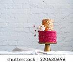 wedding cake  | Shutterstock . vector #520630696