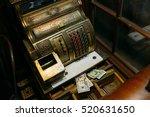 antique store cash register... | Shutterstock . vector #520631650