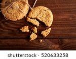 homemade chocolate cookies on...   Shutterstock . vector #520633258