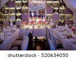 beautiful wedding restaurant... | Shutterstock . vector #520634050