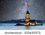 maiden's tower in istanbul ... | Shutterstock . vector #520635373