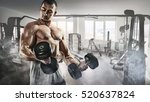 sport and fitness. muscular... | Shutterstock . vector #520637824