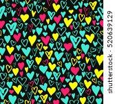 vector seamless pattern made... | Shutterstock .eps vector #520639129