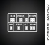 baseball scoreboard icon. black ... | Shutterstock .eps vector #520639630