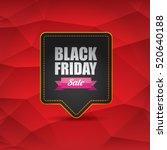 vector black friday sales tag... | Shutterstock .eps vector #520640188