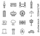 london icons set. england  thin ... | Shutterstock .eps vector #520641769