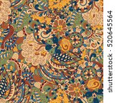 tracery seamless calming... | Shutterstock . vector #520645564