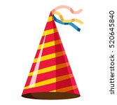 party hat icon. isometric 3d... | Shutterstock .eps vector #520645840
