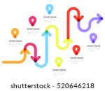 road way location infographic... | Shutterstock . vector #520646218