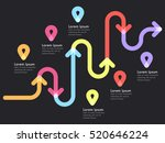 road way location infographic... | Shutterstock . vector #520646224