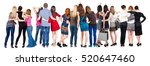 back view group of people ... | Shutterstock . vector #520647460