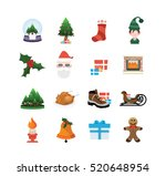 high quality christmas icons | Shutterstock .eps vector #520648954