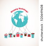 global holiday season. world... | Shutterstock .eps vector #520649608