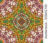 tracery seamless calming... | Shutterstock . vector #520651750