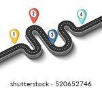 road trip and journey route.... | Shutterstock . vector #520652746