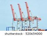 Port Cargo Crane And Container  ...