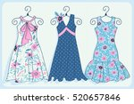 set of illustrations with... | Shutterstock .eps vector #520657846