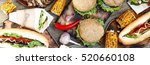 closeup a variety of products.... | Shutterstock . vector #520660108
