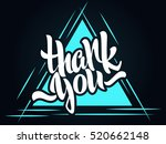 thank you lettering. hand... | Shutterstock .eps vector #520662148