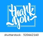 thank you lettering. hand... | Shutterstock .eps vector #520662160