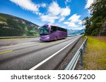 tourist bus traveling on the...   Shutterstock . vector #520667200