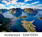 lofoten islands is an... | Shutterstock . vector #520670554