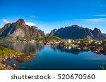 lofoten is an archipelago in... | Shutterstock . vector #520670560