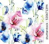 seamless wallpaper with...   Shutterstock . vector #520671394