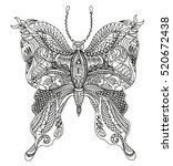 butterfly. vector illustration | Shutterstock .eps vector #520672438