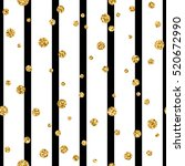 gold polka dot on lines... | Shutterstock .eps vector #520672990